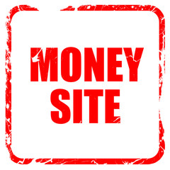 money site, red rubber stamp with grunge edges