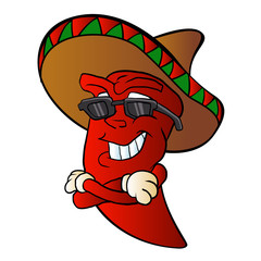 cartoon mexican pepper