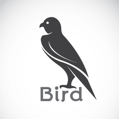 Vector image of an bird design on white background, Bird logo, E