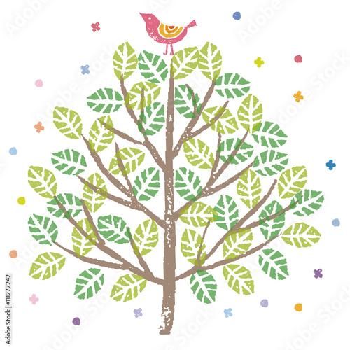 緑の木と小鳥のイラストfotoliacom の ストック画像とロイヤリティ
