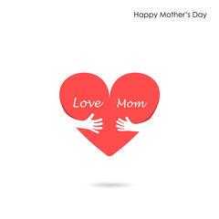 Happy Mothers Day.Love Heart Care logo.