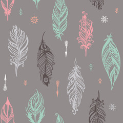 boho hand drawn seamless pattern eps8