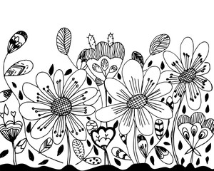 Doodle free hand drawing creative sketch vector