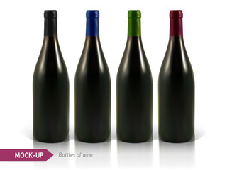 bottles of white and red wine