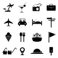 travel icons set designs vector,icon travel vector,travel signs and symbols