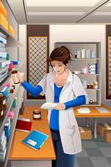 Pharmacist Working in the pharmacy