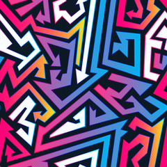 Bright arrow seamless pattern.