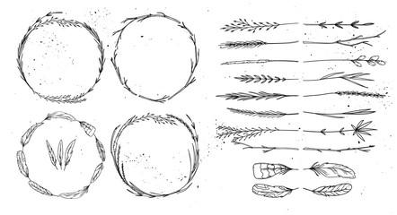 Hand drawn vector illustration. Vintage decorative collection. T