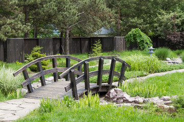 decorative bridge in the garden