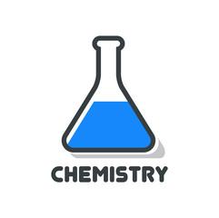 Chemistry Vector Logo in blue