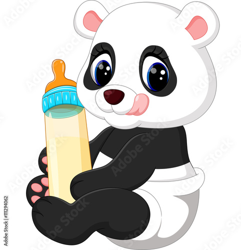 quot illustration of cute baby panda cartoon quot  stock image and clipart baby bottles free clip art baby bottle boomerang