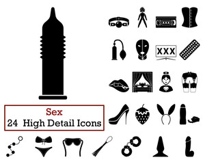 Set of 24 Sex Icons