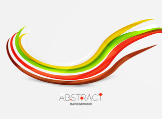 Rainbow color lines on white. Identity wave element