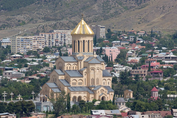 Holy Trinity Cathedral of Tbilisi (commonly known as Sameba), the main Cathedral of the Georgian Orthodox Church