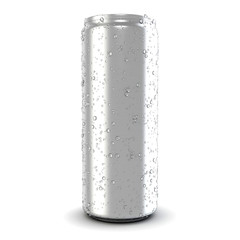 Beer and soda can isolated on white background