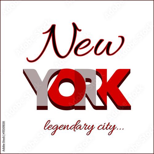 New York City Typography Graphic Fashion Stylish Printing Design
