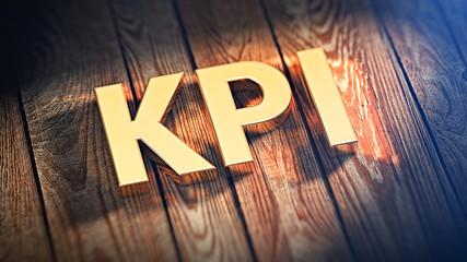 Acronym KPI on wood planks