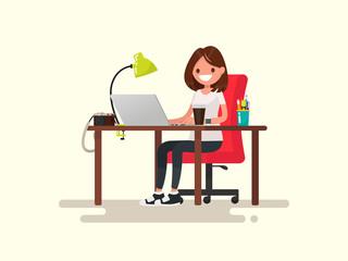 Freelance. The girl the designer or photographer behind a desktop
