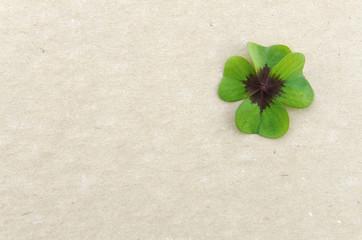 Papierblatt mit Glücksklee