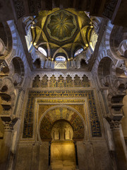 Mihrab of the Mosque Cathedral of Cordoba