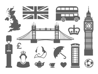Symbols of England and London
