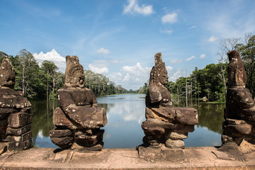 Ancient Sculptures in Angkor Thorm