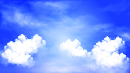 Blue sky background cloudy sky