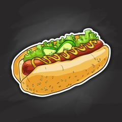 hot dog, color picture