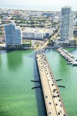 Miami Beach skyline aerial view