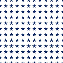 Seamless pattern with white stars.