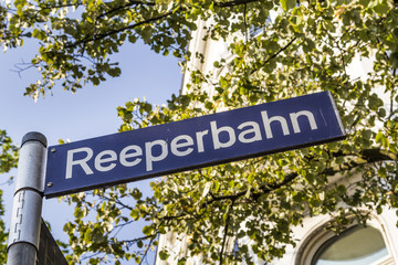 reeperbahn street sign in Hamburg