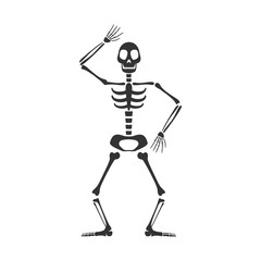 Vector Illustration of a Skeleton