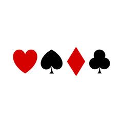 Vector Illustration of Playing Card Suit Icon Symbols