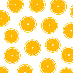 Vector Illustration of a Background Design with Fresh Juicy Oranges