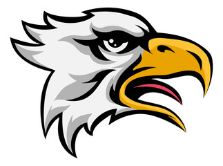 Eagle Mean Animal Mascot