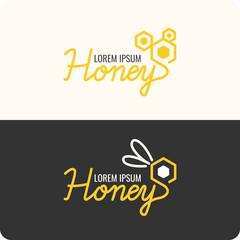 Logo bee honey.