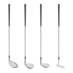 golf clubs vector illustration isolated on white background