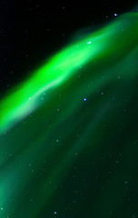 Rising curtain of aurora