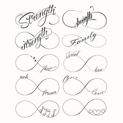 Popular Infinite tattoo set
