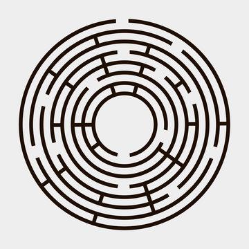 Round maze on a white background