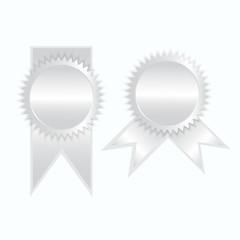 Silver label icon