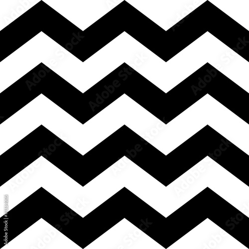 Zig Zag Lines Seamless Pattern Black And White Vintage
