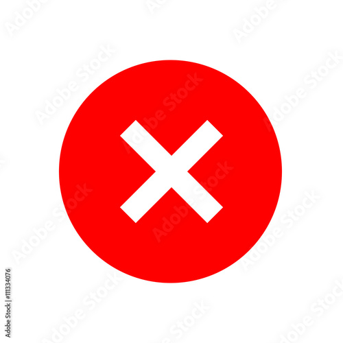 quotcross sign element red x icon isolated on white