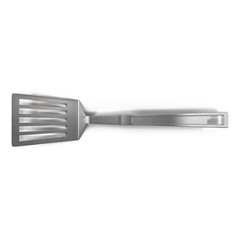 Metal spatula isolated on white 3D Illustration