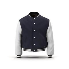 Baseball Jacket on White 3D Illustration
