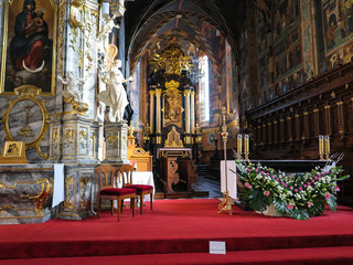 SANDOMIERZ, POLAND 16 October, 2015 .: The interior of the cathe