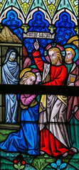 Wall Mural - Stained Glass - Raising of Lazarus
