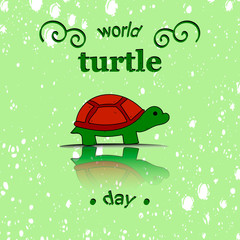 Vector illustrator for World Turtle Day