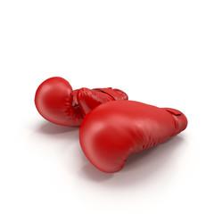 Boxing gloves isolated on white 3D Illustration