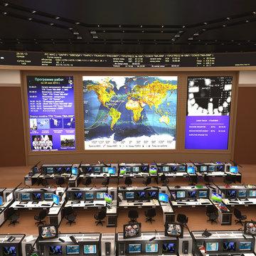 Russian Mission Control Center 3D Illustration